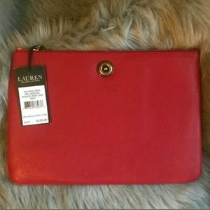 Ralph Lauren Millbrook Pouch Wristlet Large Bag